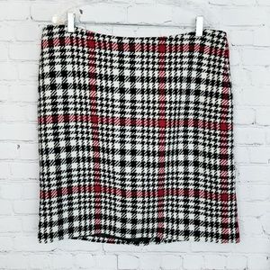 Talbots|NWT Houndstooth Wool Mini Skirt